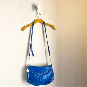 Juicy Couture Blue Leather Like Crossbody Purse